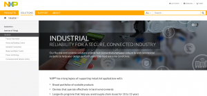 NXP Industrial Solutions Page
